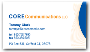 Core Communications, LLC business card