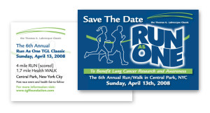 TGLC Save the Date Post Card NYC Race Walk