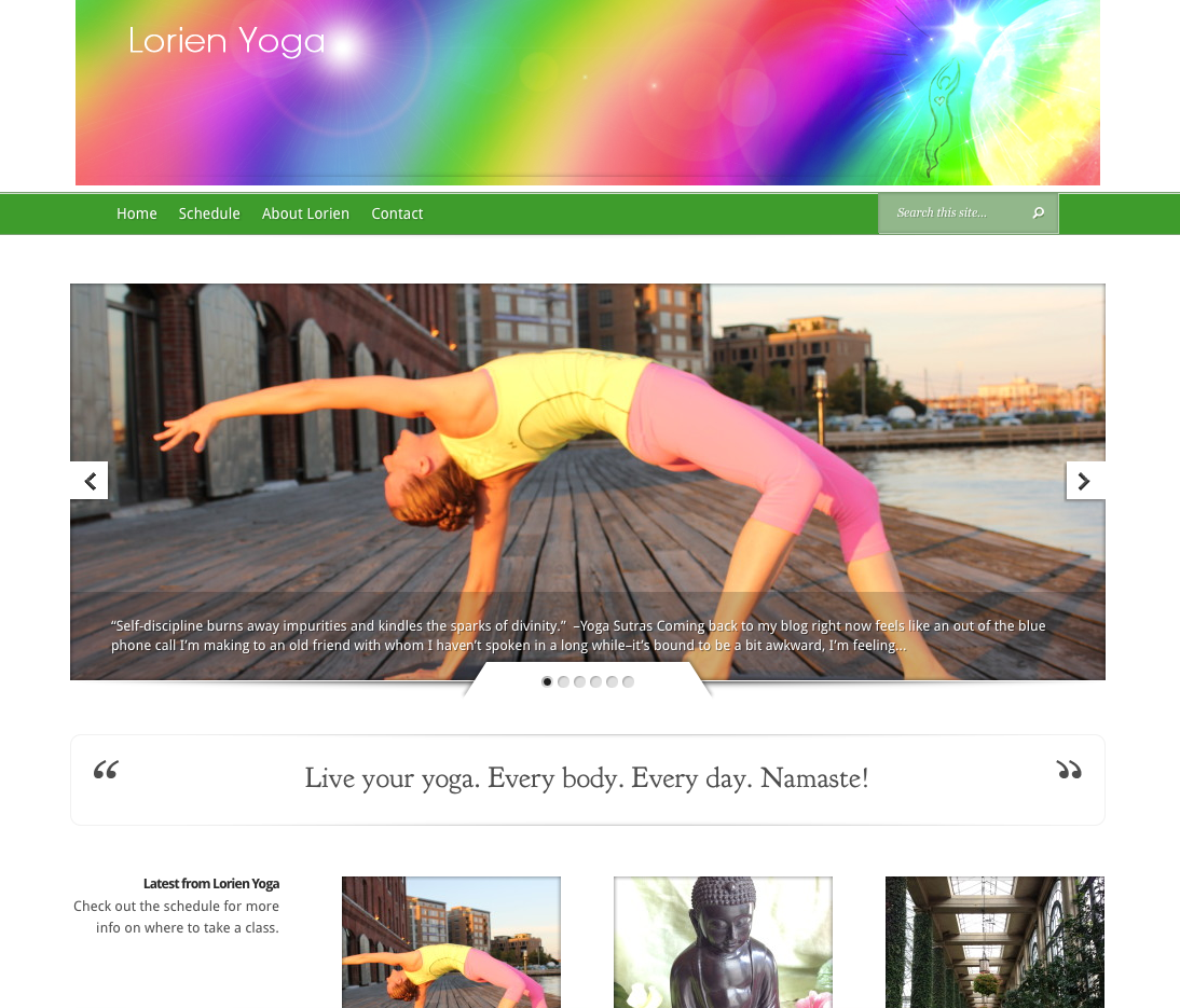 Lorien Nemec Butler yoga Instructor blog