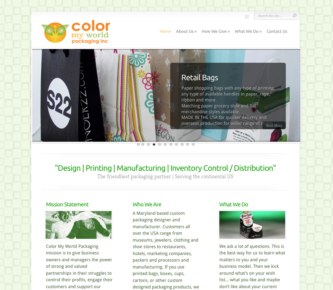 Color My World – A Giving Company. WordPress website