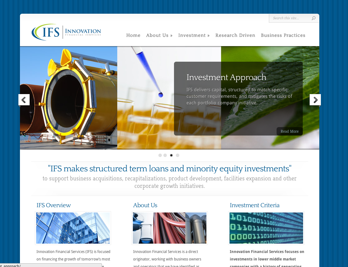 innovation financial services website wordpress