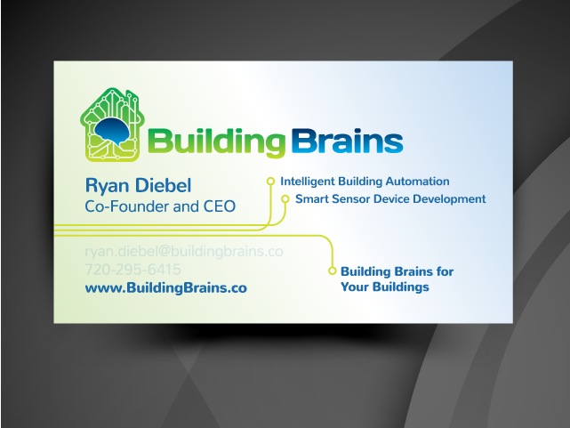 building brains business card stationary tech startup
