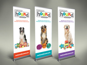 graphic design pop-up banners