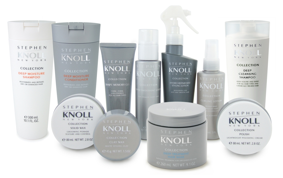 Stephen Knoll New York hair care collection product photography